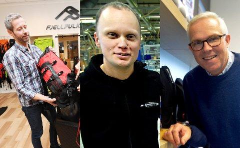 Fjellpulken, ved Dag Ulven (f.v.) og Madshus ved Nils Hult bekrefter at de har utestående beløp hos Gresvig. Nils Holtlien Bakken i LillSport forteller at de ikke har noe utestående etter konkursen.
