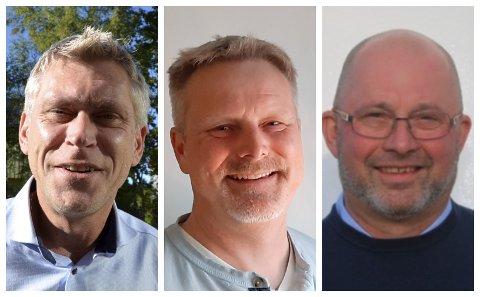 Iver Erling Støen, Regionleder LO Innlandet, Vidar Hoel, leder CREO Innlandet ogOlav Stensvehagen, leder Skolenes Landsforbund (SL) Innlandet.
