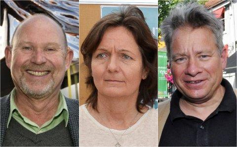 16 søknader er inne, tre av dem er fra: Svein Olav Hoff (f.v.), Maren Kyllingstad og Eivind Falk.