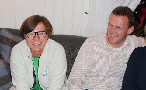 PÅ LISTA: Anne Marte Skari og Pål-Arne Oulie fra Gran kan havne på fylkestinget for Senterpartiet etter valget i 2019.