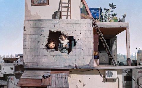 TÅRNET: Scene fra animasjonsfilmen som settes opp med arabisk tale.