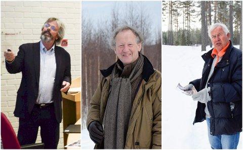 """JA OG NEI: Kjell Eek-Østlie (f.v.) og Ole Christian Styri har fått """"ja"""" fra kommunen, mens Sven Anders Bjørnstad foreløpig ikke har fått oppfylt ønsket om mer boligbygging på Bergermoen."""