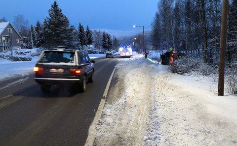 GLATT:Fra utforkjøringa på Åneby tirsdag morgen.