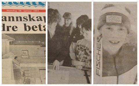 FOR 30 ÅR SIDEN: Lønnskutt til brannmannskaper, redaksjonsbesøk og kretsmester på ski var blant sakene som preget nyhetsbildet for 30 år siden.