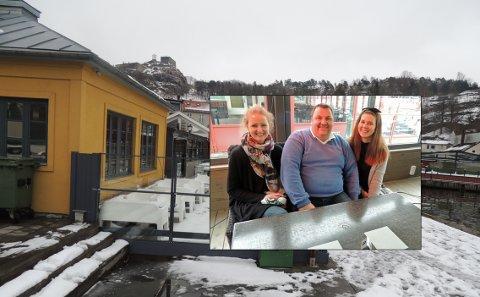 GODT OG VARMT: Ann Cathrin Vanay, Magne Rekstad og Ine Rekstad garanterer varm og god vårstemning inne på Sjøbris. Men uteserveringen frister neppe under åpningsdagen fredag.