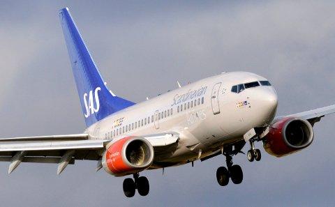 SAS reduserer antall avganger fra Haugesund. Foto: Johan Nilsson / NTB scanpix