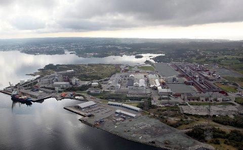 ØVELSE: Det gjennomføres brannøvelse på fabrikkområdet på Hydro Karmøy