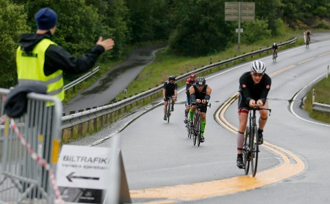 FÅR DET LITT LETTERE - OG KORTERE: Det er resultatet av en liten endring på sykkeltraseen.
