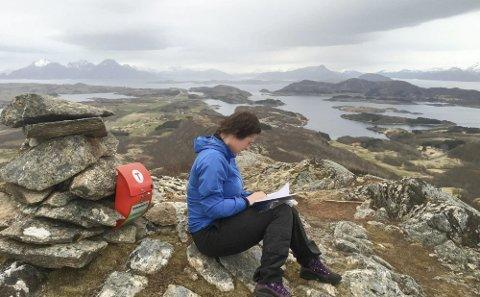 FJELLTUR: Mette Anfindsen fra Dønna liker seg på fjelltur, og hun anbefaler et alternativ uten klatring.  FOTO: PRIVAT
