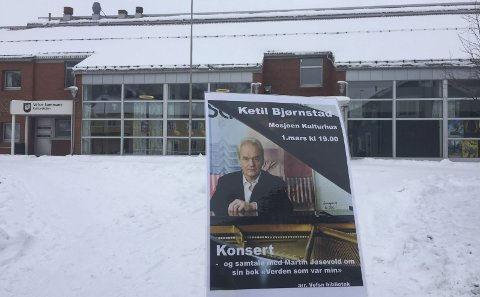 Mestermøte: Ketil Bjørnstad kommer til Mosjøen for å spille, og for å snakke med Martin Jøsevold om sine to siste bøker. Foto: Rune Pedersen