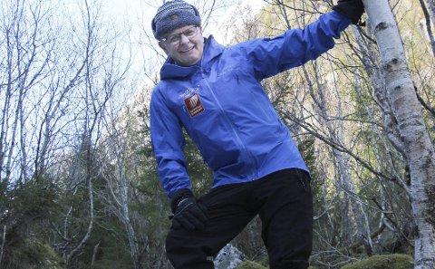 Helgelandstrappa: Bjørnar Nyland er prosjektleder for byggingen av trappa opp mot Øyfjellvarden. Foto: Jon Steinar Linga