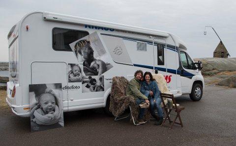 Norge rundt: Eva Rose kombiner jobb og fritid. Kjæresten, Ole Jacob Johansen, er også med på turen.