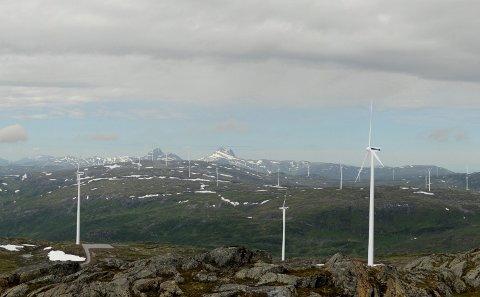 Vindkraftverk: Illustrasjonen viser hvordan Øyfjellet vindkraftverk vil bli seende ut. Illustrasjon: Norconsult