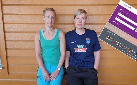 Hanne Kristin Hellem og Viveke Skarmark.
