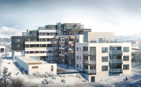 NYTT LEILIGHETSKOMPLEKS: Plantegninger for Markveien Terrasse. Foto: DNB Eiendom