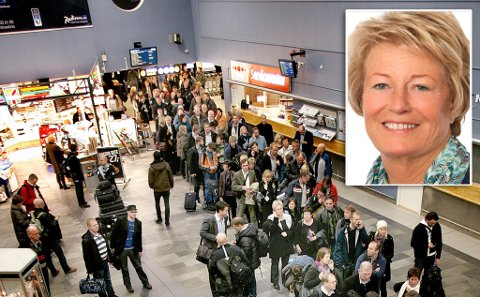 BEHANDLET KLAGEN: En passasjer har klaget på at flytur fra Tromsø til Hammerfest ble til buss i 9-10 timer. Vibecke Groth (Innfelt) er leder i Transportklagenemnda som har avgjort saken.