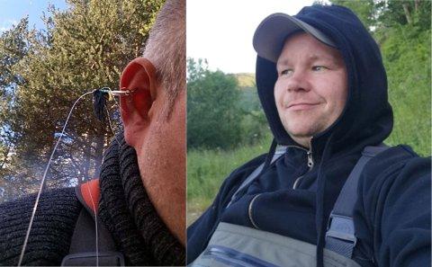 SLUKØRET: Willy Andre Johansen fisket etter laks i Reisaelva, men fikk ikke annet enn seg selv på kroken. Det mener han selv ikke var å ta så mye på vei for, så han klippet av snøret, satt på ny flue, og fisket videre ei stund til før han bestemte seg å gjøre noe med det.