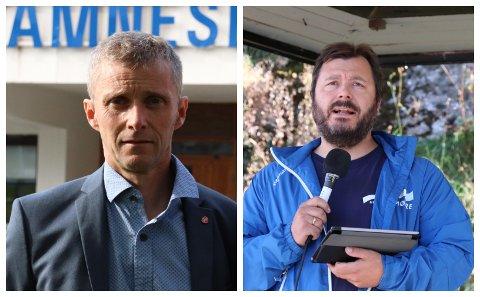 STUPER: Arbeiderpartiets Ole-Gerhard Rinø og Høyres Stig Tore Skogsholm er begge skuffet etter partienes dårligste valg i Alstahaug noensinne.