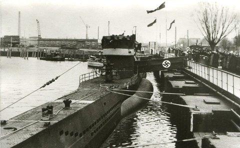 Starten: U-735 ble satt i tjeneste 29. desember i 1942 i Danzig. Nesten nøyaktig to år senere ble den senket av britiske bombefly 28. desember 1944.