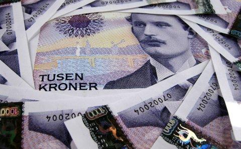 ØKNING: Den midterste bruttoinntekten i Norge har økt med 35,1 prosent på ti år. I Holmestrand kommune har den gått opp noen få hakk mer. Illustrasjonsfoto