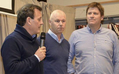 Sammen: Espen Johannessen (Visit Kragerø), Bjørn Andersen (Gårdeierforeningen) og Tor Markussen (Håndverk- og industriforeningen).
