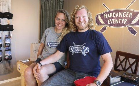 Gründere: Lørdag åpner ekteparet Vegard og Gro Skaustein Holven dørene til den nye butikken sin i Kremarvegen.