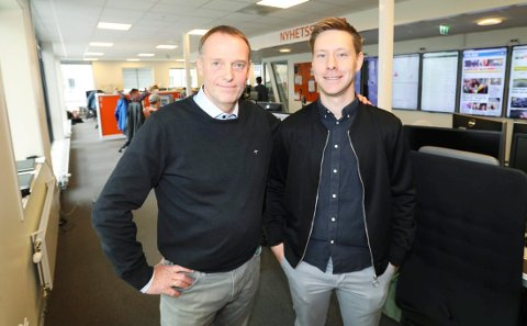 Sjefredaktør Jan-Eirik Hanssen og påtroppende nyhetsredaktør Markus André Jensen.