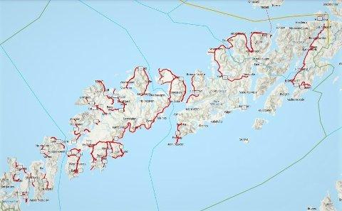 Vinner av anbudskonkurransen får ansvaret for drift og vedlikehold på disse fylkesveiene i Lofoten.