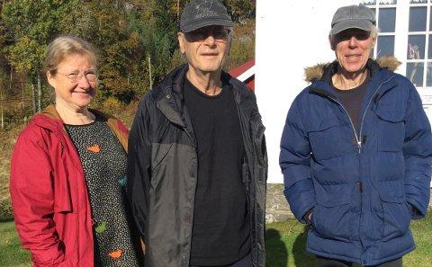 KRITISKE: Eli Smedsland (til venstre), Øyvind Byremo og Torje Karsten Grindheim er kritiske til behandlingen av Lyngdal nord. Også Åge Vasland har underskrevet brevet, men han var ikke til stede da bildet ble tatt.