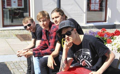 HATE THIS: Mads Jørstad Paulsen (f.v.), Colin Hagen Åkerland, Christian Jørstad og Emil Cindahl er spente på hva fremtiden vil bringe for bandet.