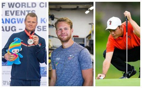 FÅR STØTTE: Disse tre mosseutøverne har fått pengestøtte fra Olympiatoppen for 2020.