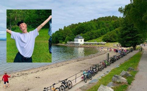 Mannen på bildet heter Thomas og han har tatt seg turen til strendene i vårt nærområde. Klarer du å finne han?