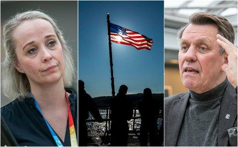 Konstituert kommunedirektør Mari Enoksen Hult og Tromsø-ordfører Gunnar Wilhelmsen kjemper imot anløpene av amerikanske reaktordrevne ubåter til Tromsø.
