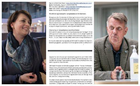 PAR: Anne Marit Bjørnflaten, direktør for myndighetkontakt i Hurtigruten og Gunnar Wilhelmsen, ordfører i Tromsø kommune.