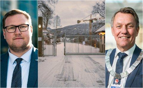 Fra venstre: Erlend Svardal Bøe, Høyre, militærbasen Olavsvern og Tromsø-ordfører Gunnar Wilhelmsen.