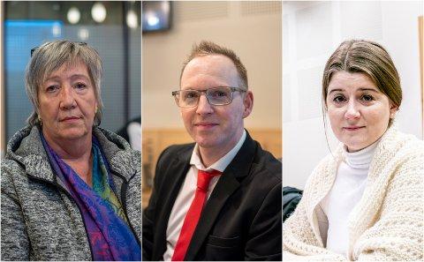 HVA BLE SAGT: Det er innholdet i en medarbeidersamtale mellom avgått direktør Jérémie McGowan (midten) og styrets leder Grete Ellingsen (til høyre) og nestleder Anni Skogman (til venstre) som skal opp for retten onsdag.