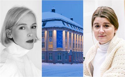 IKKE ENIGHET: Det skapes et inntrykk av at det var konsensus i styret om avskjedigelsen av McGowan. Det er ikke riktig, sier styremedlem Sigrid Bjørbæk i Nordnorsk kunstmuseum (til venstre). Styredeler Grete Ellingsen til høyre.