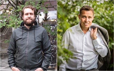 UENIG: Jeg mener UiT fortjener en styreleder med tyngde innen akademia, sier styremedlem Anders T. Hjertø Lind. Han stemte imot Christian Chramers (til høyre) kandidatur om leder av nytt UiT-styre.