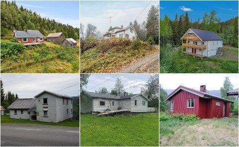 BILLIGE KJØP: Disse eiendommene er til salgs i kategorien bolig på Finn. Alle til en halv million eller mindre.