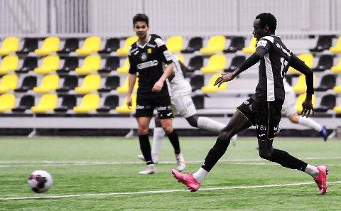 SPILLENDE: Cavin Diagne imponerte med stor spilleforståelse og godt duellspill mot Stabæk.