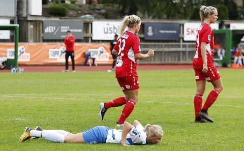 Karina Sævik og Kolbotn måtte nøye seg med 1-1 mot Sandviken. FOTO: STIG PERSSON