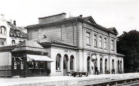 FREDET: Jernbanestasjonen i Larvik er fredet.