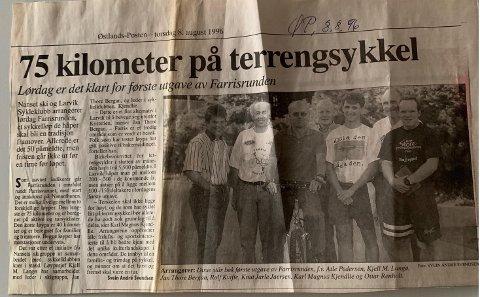 SNART 24 ÅR SIDEN: Bilde av den første rittledelsen i 1996.