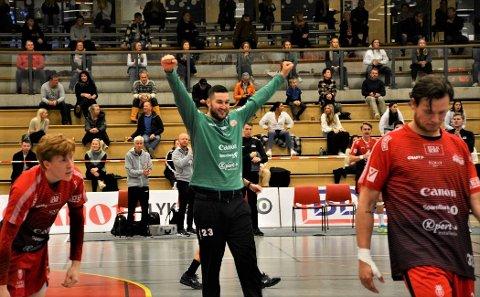 Dragan Kondic og Sandefjord Håndball elite kunne juble til slutt hjemme mot Falk forrige lørdag. I kveld kan det bli ny jubel og et byks oppover på tabellen.