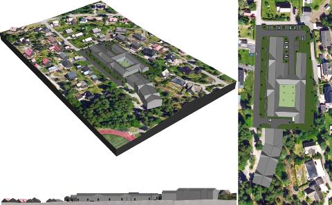 ALTERNATIV 4: Detter alternativet for utbygging i Steinklossveien reagerer flere av beboerne i nærområdet på. Her er planen å bygge omsorgsboliger på cirka 100 enheter.