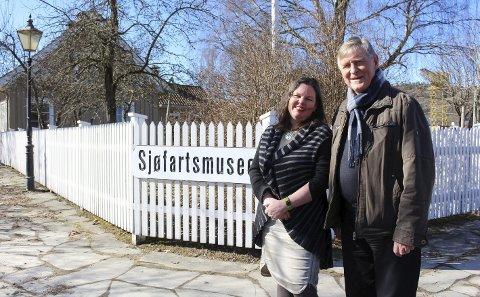 Avtale: Haavard Gjestland fra Porsgrunnsmuseene og Jorunn Sem Fure fra Telemark Museum smilte fornøyd over ny avtale i mars 2017. Det gjenstår å se om avtalen overlever ny museumsmelding.