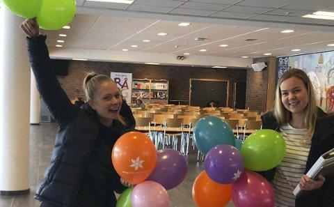 Leder aksjonen: Sigrid Trøan Lorentsen og Sunniva Stølan gleder seg.