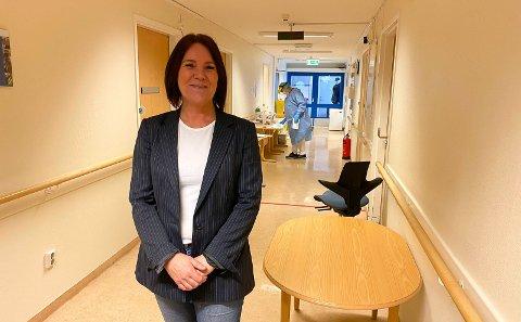 ETABLERTE TESTSENTERET: Legevaktsjef Tina Rusdal i Porsgrunn kommune.