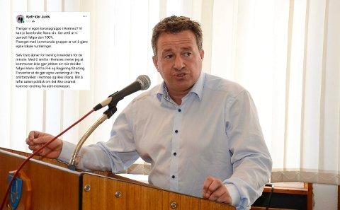 Kjell-Idar Juvik (Ap) er ikke fornøyd med at Hemnes kommune med null smittede har stengt idrettshallene for trening.