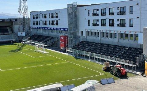 Legia-kampen er en av årsakene til at den nye tribunen på Aspmyra er kommet på plass.